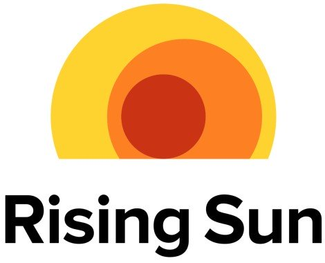 rising sun solar hawaii logo with text below