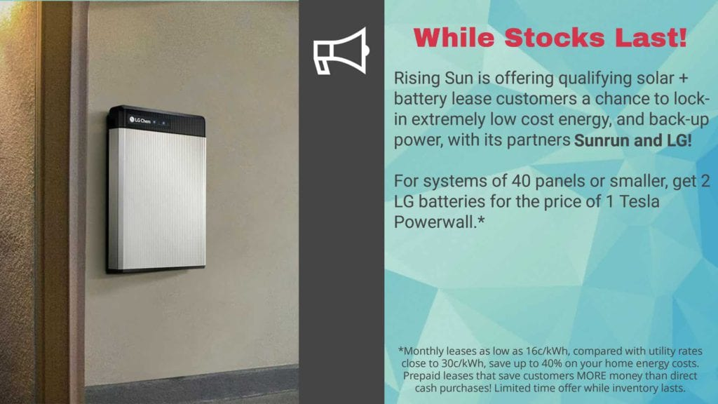 LG Chem battery promotion in Hawaii with SunRun, LG and Rising Sun Solar